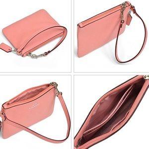 Pink Coach clutch/wristlet